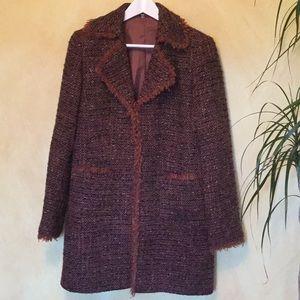 Jackets & Blazers - Coat with fringed edges